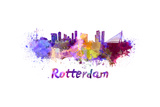 Rotterdam Skyline in Watercolor
