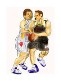 Hand Draw Basketball Player