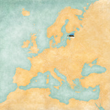 Map of Europe - Estonia (Vintage Series)