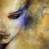 Beautiful Woman Face Watercolor Illustration