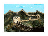 Cg Painting Great Wall