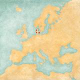 Map of Europe - Denmark (Vintage Series)