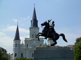 General Andrew Jackson Statue in Front of St Louis Cathedral