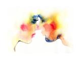 Kiss Hand Painted Fashion Illustration