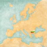 Map of Europe - Bulgaria (Vintage Series)