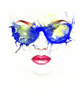 Woman with Glasses Fashion Illustration