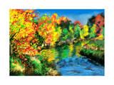 Hand Draw Autumn Forest