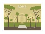 Park in Rome Vector
