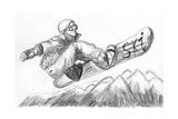 Skier Skiing Illustration