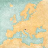 Map of Europe - Slovenia (Vintage Series)