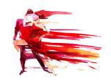 Couple dansant Reproduction d'art par Okalinichenko