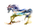 Cheval Reproduction d'art par Okalinichenko