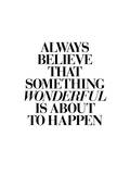 Always Believe That Something Wonderful is About to Happen 2