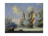 A Sea Battle  Late 17th or 18th Century