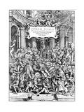 Title Page of Andreas Vesalius 'De Humani Corporis Fabrica  Showing Vesalius Dissecting Body  1543