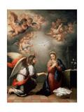 The Annunciation, 1660S Giclée par Bartolomé Esteban Murillo