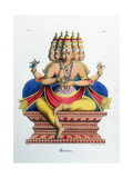 Brahma  First God of the Hindu Trinity (Trimurt)  and Creator of the Universe  C19th Century