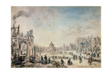 Winter Landscape with Skaters  Dutch Painting of 17th Century