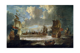 Ships in a Lagoon  17th or Early 18th Century