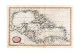 Map of the West Indies  18th Century