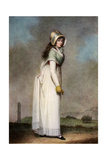 Portrait of an Irish Girl, Late 18th-Early 19th Century Giclée par Adam Buck