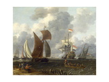 A Battle Offshore  17th Century