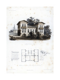 Design for a Country House in Moabit  Near Berlin  Germany  C1850