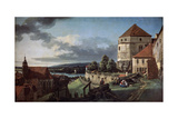 View of Pirna from the Sonnenstein Fortress  C1752-C1755