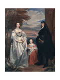 The Earl and Countess of Derby and Child  1632-1641
