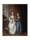 Portrait of Elizabeth and Philadelphia Wharton  1640