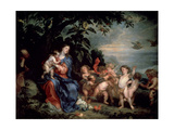 Rest on the Flight into Egypt (Virgin with Partridge)  C1629-1630