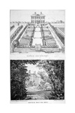 Two Views of Gough House  West Road  Chelsea  London  C1830