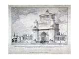 Design for a Triumphal Arch at Hyde Park in Commemoration of the Victory at Waterloo in 1815  1826