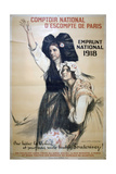 Comptoir National D'Escompte De Paris  French World War I Poster  1918