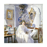 Young Woman in White  C1864-1930