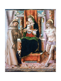 The Virgin and Child with Saints Francis and Sebastian  1491