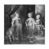 The Three Sons of Charles I  King of England  1630S