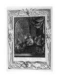 Lycaon Metamorphosed into a Wolf, 1733 Giclée par Bernard Picart