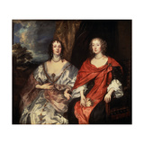 Portrait of Anne Dalkeith  and Anne Kirke  1630S
