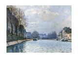 View of the Canal Saint-Martin  Paris  1870