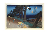 Full Moon at Mochizuki  from 69 Stations of Kisokaido  1832