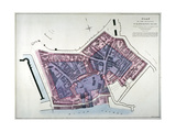 Plan of a Proposal to Construct a Dock on the Site of St Katharine's Hospital  London  C1825