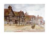 Village Street with Tudor Houses  C1864-1930