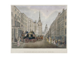 The Cambridge Coach Leaving the Nelson Inn  Belle Sauvage Yard  Ludgate Hill  London  1818