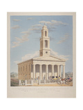 North West View of St George  Camberwell with Figures in the Front Camberwell  London  1827