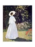 Woman in the Garden  Sainte Adresse  Detail  1867