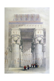 Portico of the Temple of Dendera  19th Century