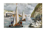 Ice Boat Race on the Hudson River  19th Century