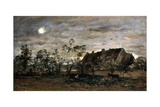 Evening in Honfleur  1860S