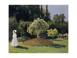 A Lady in the Garden  Sainte-Adresse  1867